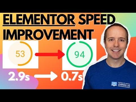 WordPress Elementor Speed Optimization