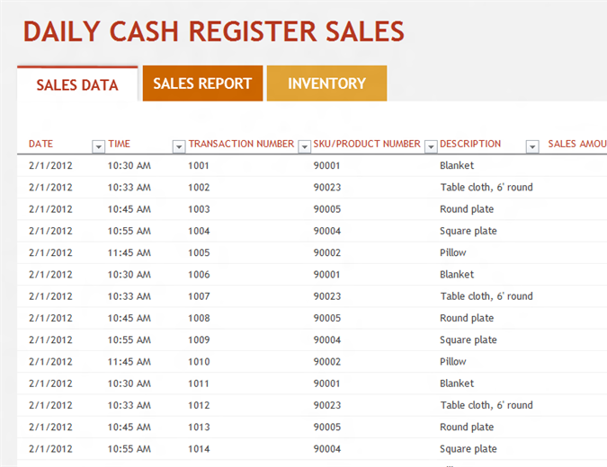 Daily sales report - Office Templates