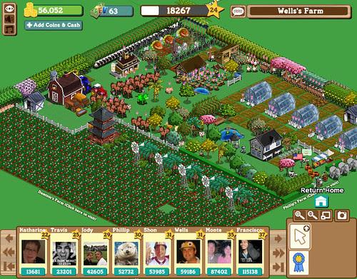 Farmville facebook application