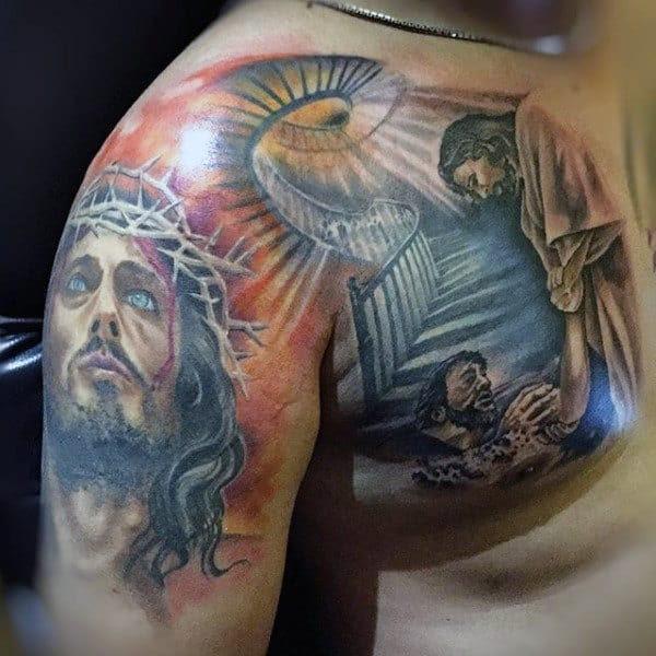 ️ ️ Jesus Tattoo Ideas That Don't Suck—100 Meaningful