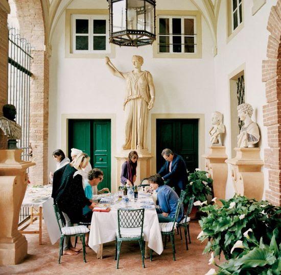 green doors, green chairs: The Decadent Italian Interiors of Villa Cetinale in Tuscany   Vanity Fair