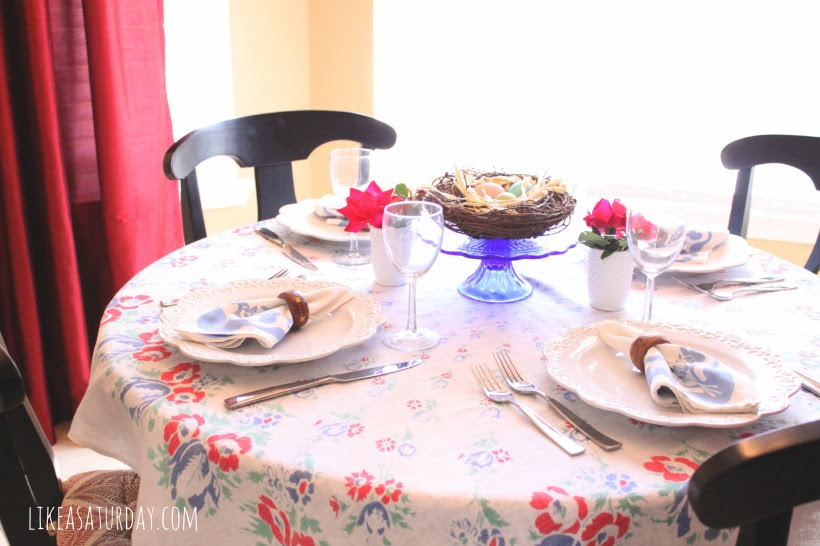 vintage easter table : like a saturday