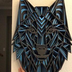 187+ Layered Wolf Mandala Svg – SVG Bundles