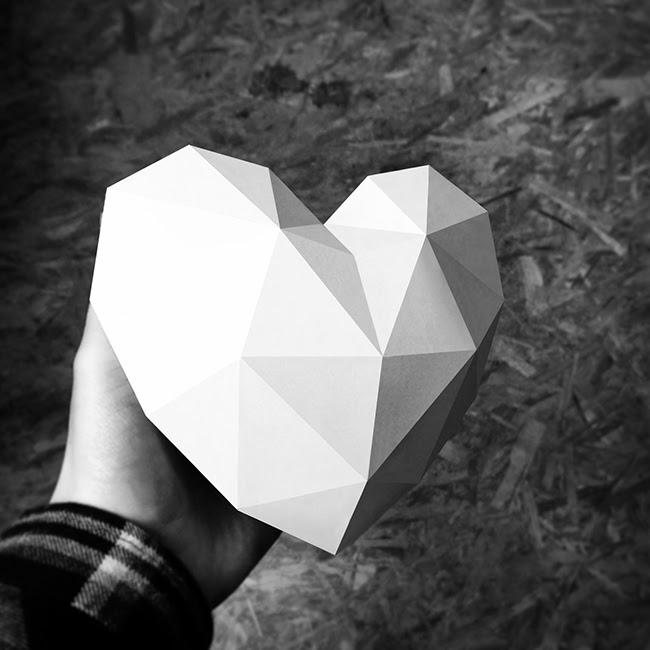 2015 Valentine's Day Heart Papercraft