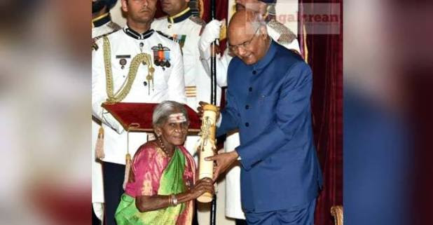See what happened when 106-year-old Padma awardee 'Mother of Trees' blessed the President at awards ceremony