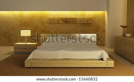 Bedroom Interior 3d Rendering Stock Photo 15660832 : Sh