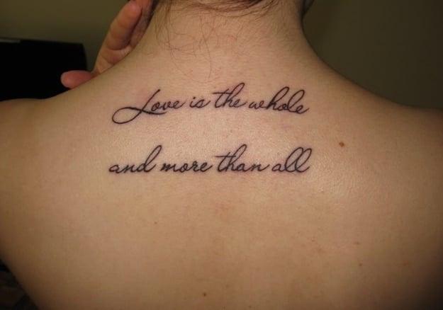 Tatuajes Tatuajes Frases Mujer Espalda