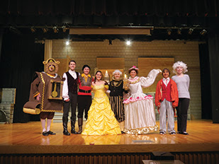 The main cast of CHS's Beauty and the Beast rehearses in ...