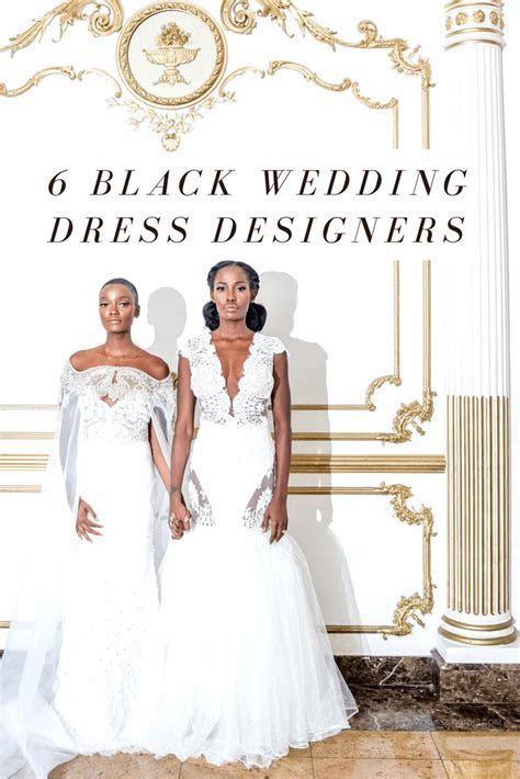 6 Black Wedding Dress Designers to Wear on the Big Day