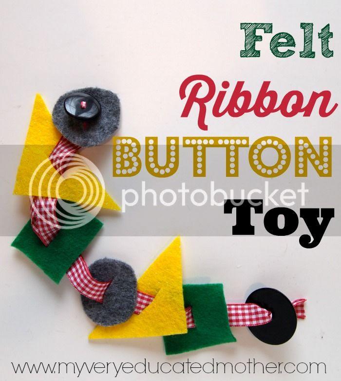 Felt Ribbon Button Toy via @mvemother #learningtool #DIY #giftidea