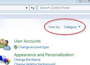 Category-Control Panel