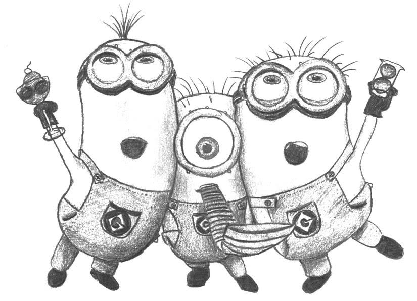 Dibujos Para Colorear Los Minions Morning Kids