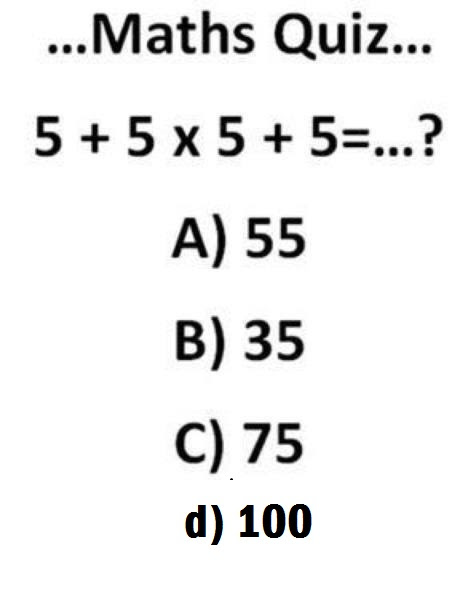 Most Confusing And Simple Maths Quiz - Webmasters - Nigeria