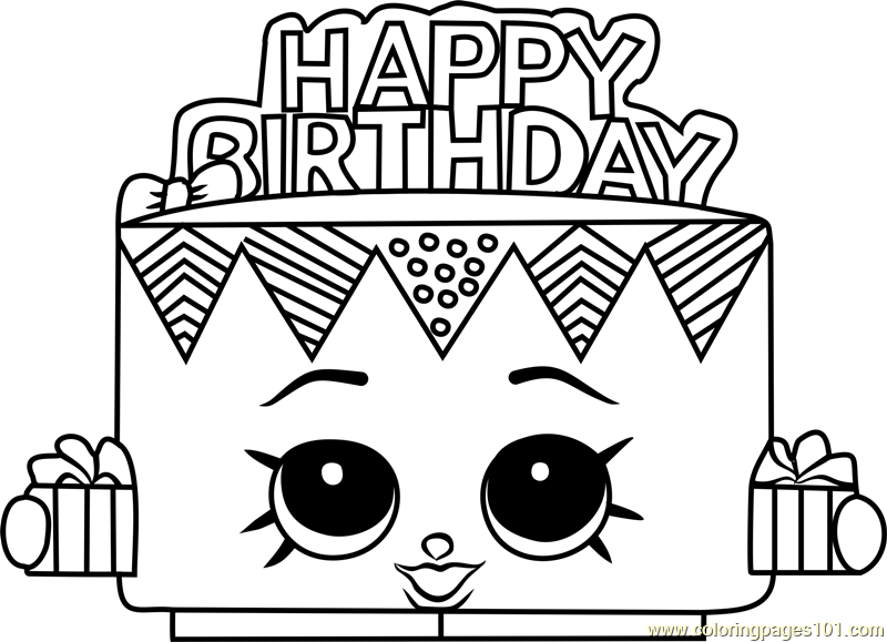 Shopkins Birthday Coloring Pages - Coloring Pages