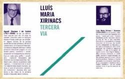 """Es presenta el llibre """"Tercera via"""" de Lluís M. Xirinacs"""