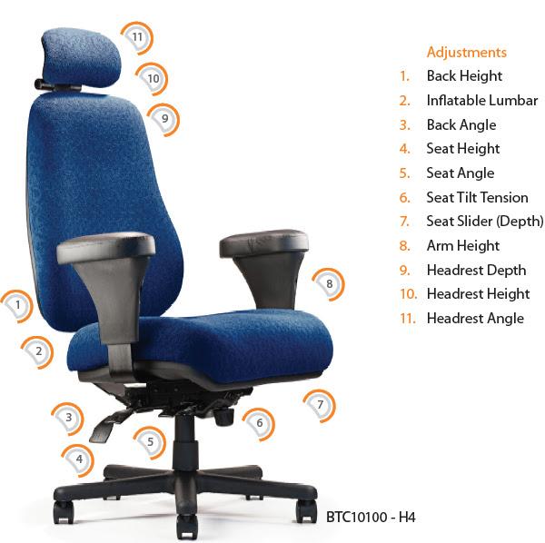 Neutral Posture BTC-10100 Big & Tall Ergonomic Office Chair