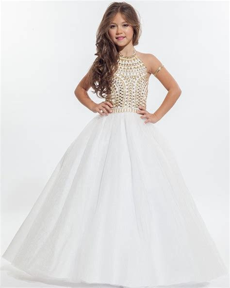 Wholesale White Halter Flower Girl Dresses 2016 Beautiful