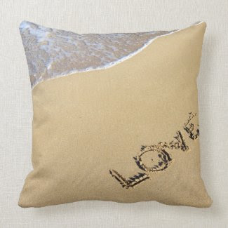 Beach Love Throw Pillows
