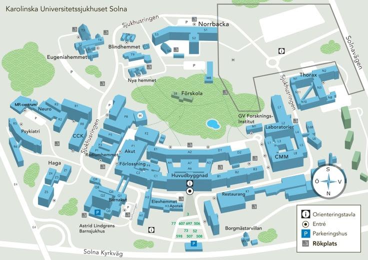 nya karolinska karta Jämför försäkringar: Karolinska solna karta nya karolinska karta