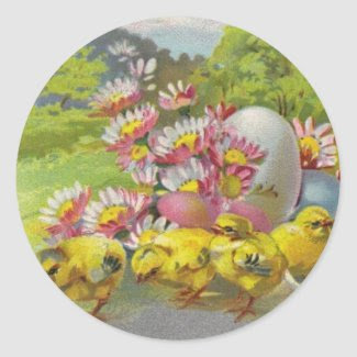 Easter Vintage sticker