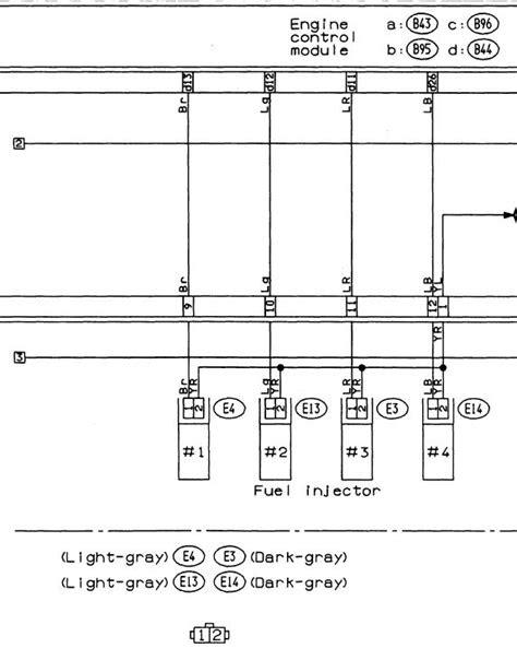 posicion de cada conector de pico inyector subaru