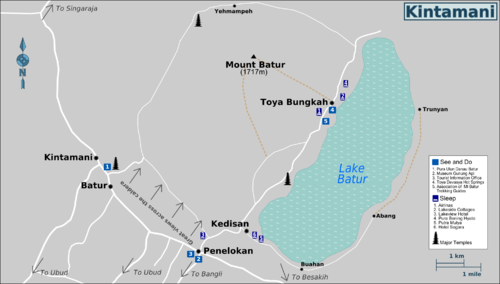 Detail Kintamani Location Map for Visitor Reference