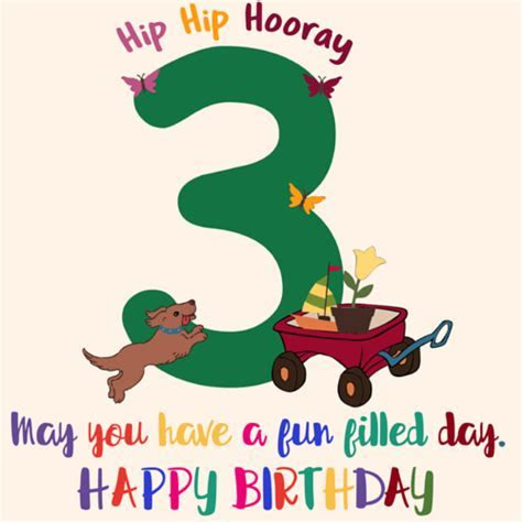 On Your 3rd Birthday! Free For Kids eCards, Greeting Cards