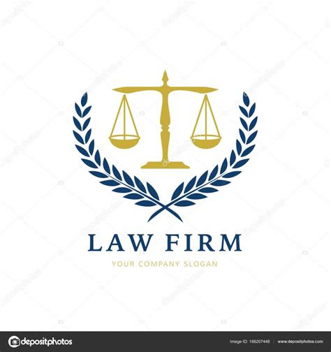 law firm logo icon vector design legal lawyer scale