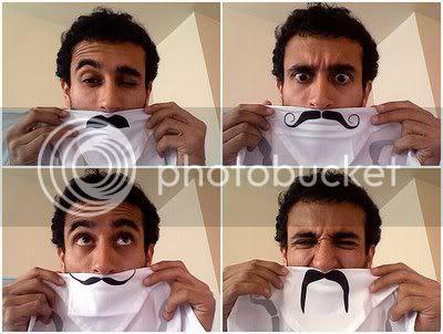 Mustache towels & handkerchief.