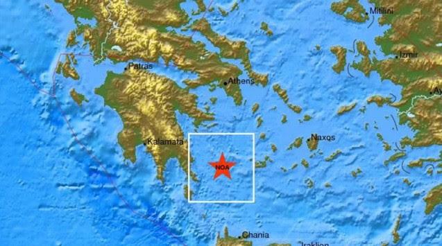 Μεγάλος σεισμός ανατολικά της Πελοποννήσου – 5,7 Ρίχτερ λέει το γεωδυναμικό