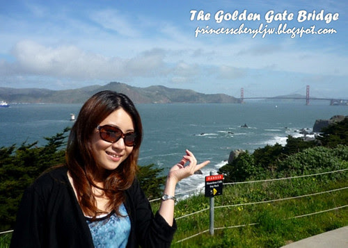 princess at presideo viewing golden gate bridge