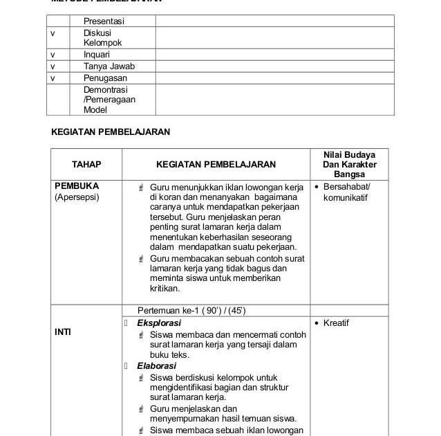 Contoh Rpp Bahasa Indonesia Fakta Dan Opini Contoh Three
