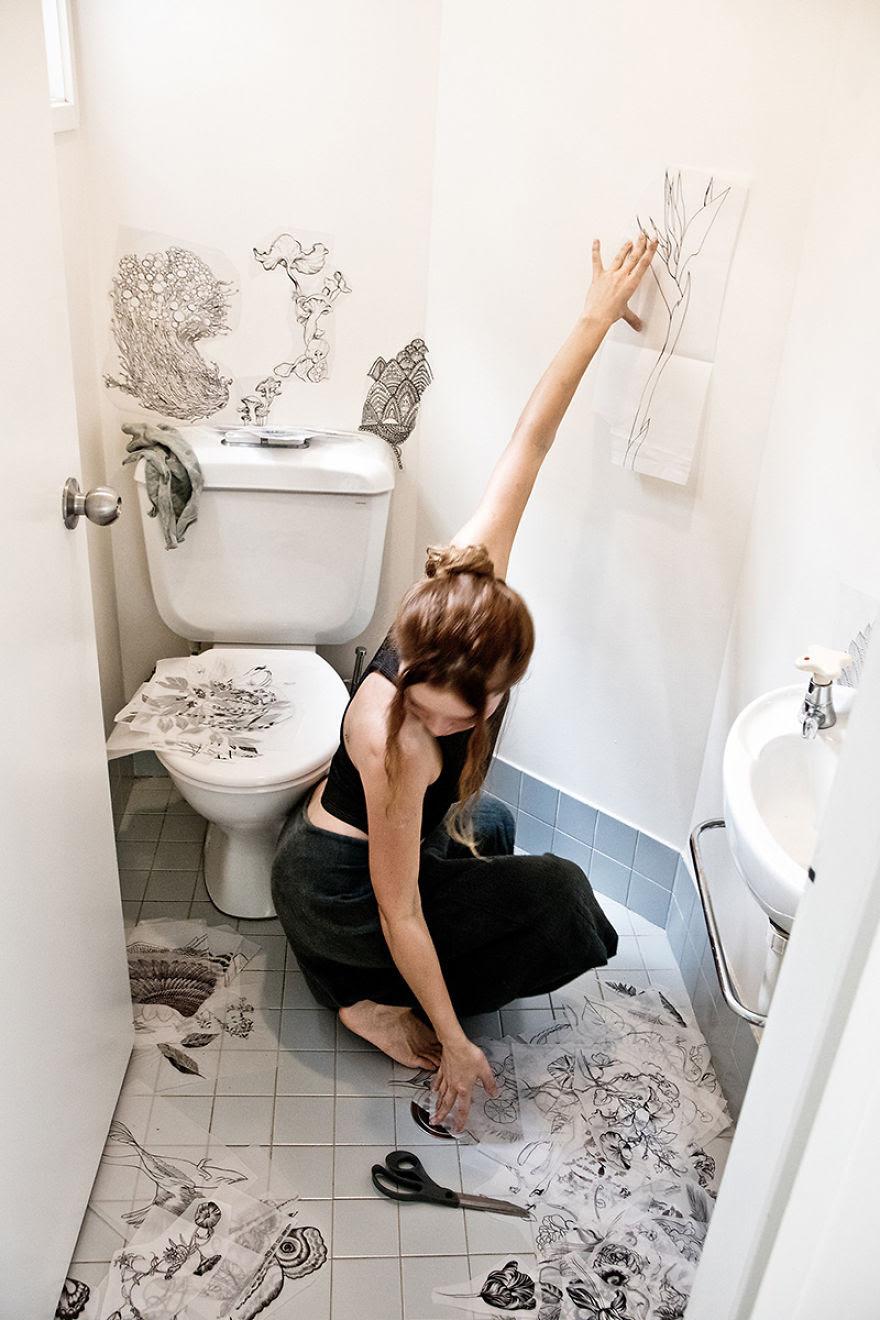 GALERI FOTO Seorang Desainer Menyulap Toilet Yang Membosankan Jadi