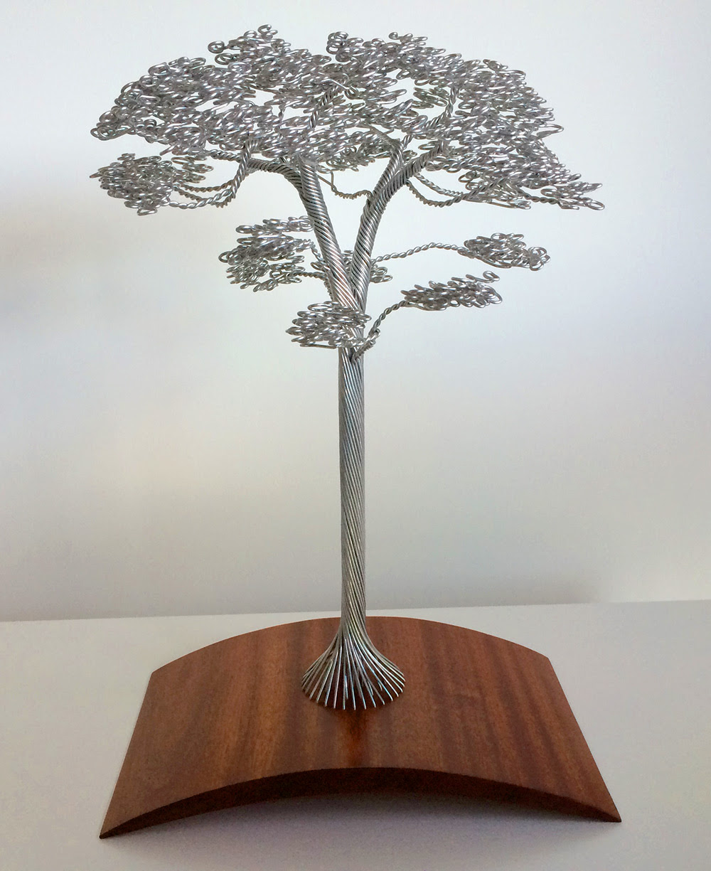Dense Wire Tree Sculptures by Clive Maddison wire trees sculpture