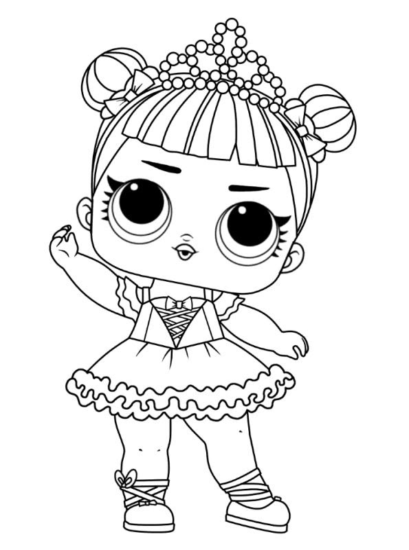 coloring page l o l dolls coloring pages