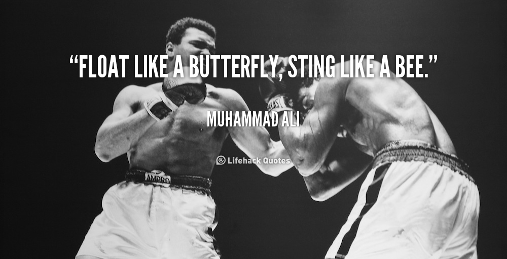 Float Like A Butterfly Sting Like A Bee Pictures Photos And