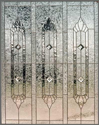 Big115 Custom Leaded Glass Large Privacy Window