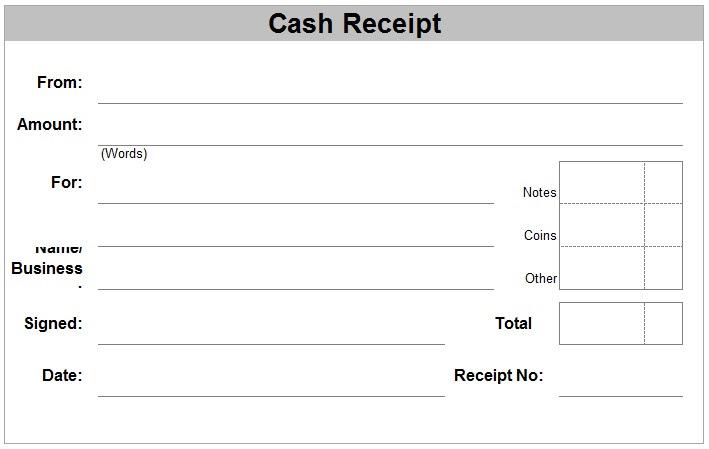 Free Receipt Forms