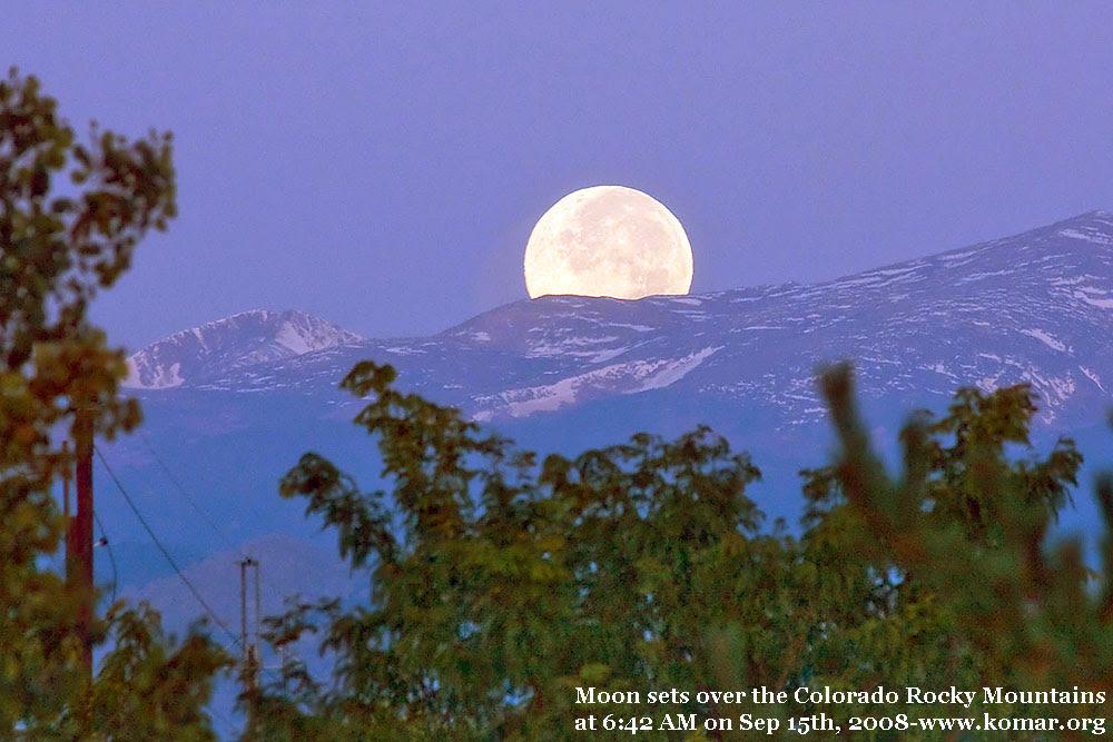 colorado moonset