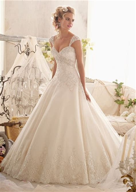 Ball Gown Sweetheart Empire Tulle Lace Crystal Wedding