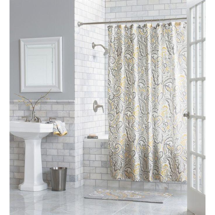 Threshold™ Paisley Shower Curtain - Yellow | Bathroom
