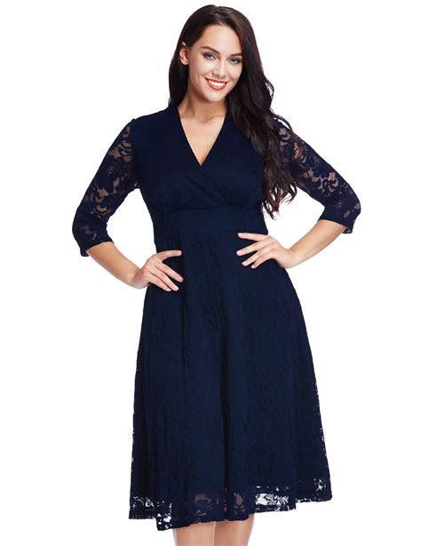 Navy Plus Size Dresses: Amazon.com