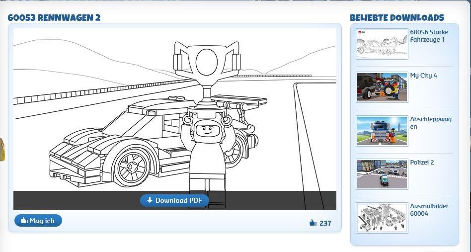 lego city polizei ausmalbilder kostenlos  cartoonbild