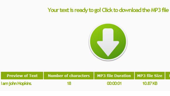 convert text into mp3