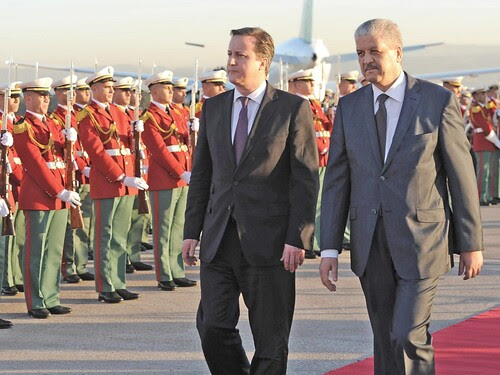 Algerian Prime Minister Abdelmalek Sellal and David Cameron of Britain meet in Algiers to discuss security issues. The In Amenas gas field was the scene of a recent standoff between armed combatants and the Algerian army. by Pan-African News Wire File Photos