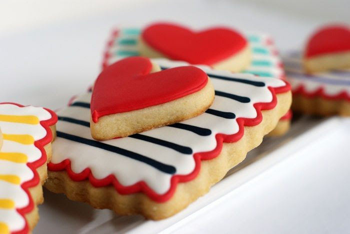 double-decker, striped Valentine cookies ... easy to make and two cookies in one!