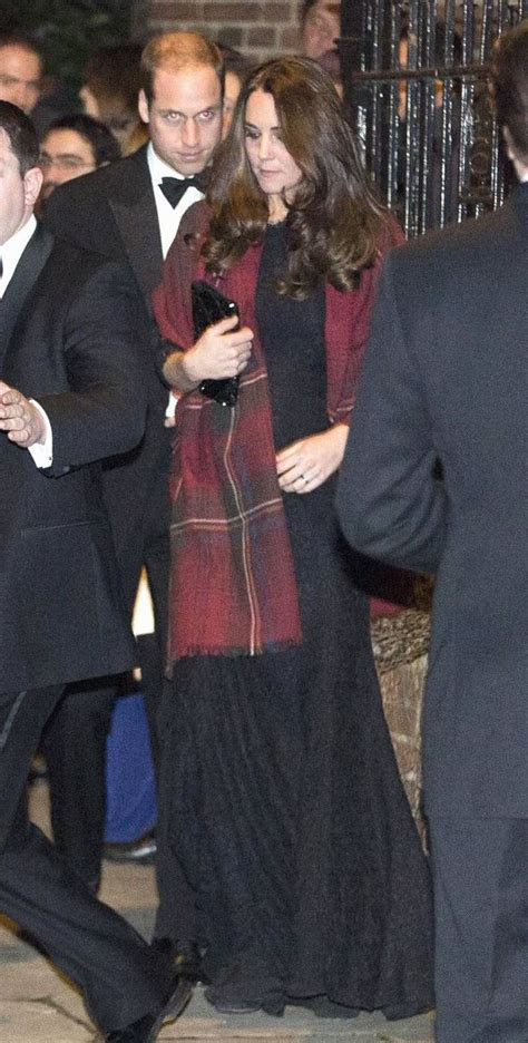 Duchess of Cambridge recycles black lace gown as she and