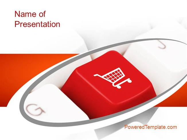 Ecommerce Keyboard Powerpoint Template By Poweredtemplate Com Authorstream