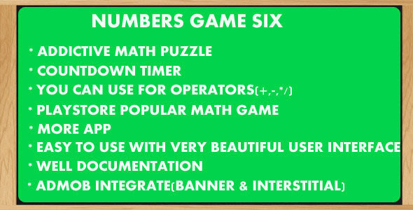 Numbers Game 6-Countdown