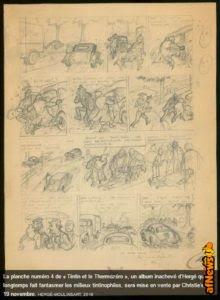 Tintin e il Thermozero: all'asta una tavola dalla storia mai pubblicata!